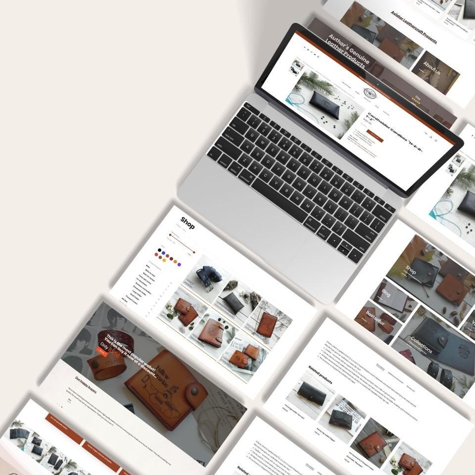Сайт для продажи кожаных изделий в США